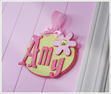 Girl's Textured Name Plaque