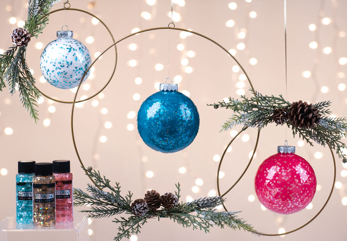 Glitterific Icon Ornaments