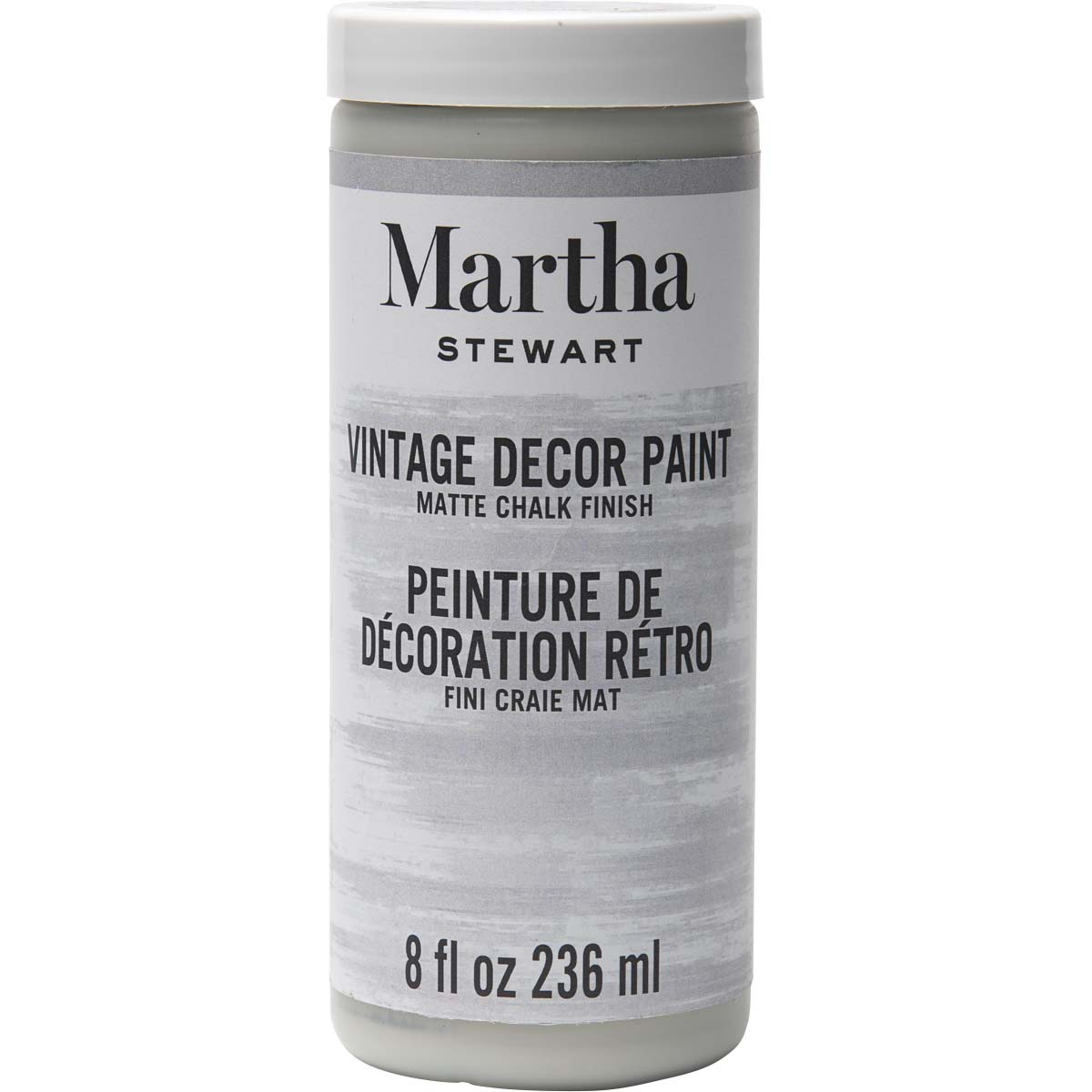 Martha Stewart ® Vintage Decor Matte Chalk Acrylic Paint - Smoke, 8 oz. - 33536