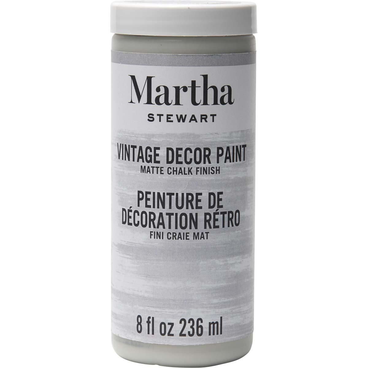 Martha Stewart® 8oz Vintage Décor Matte Chalk Acrylic Paint - Smoke