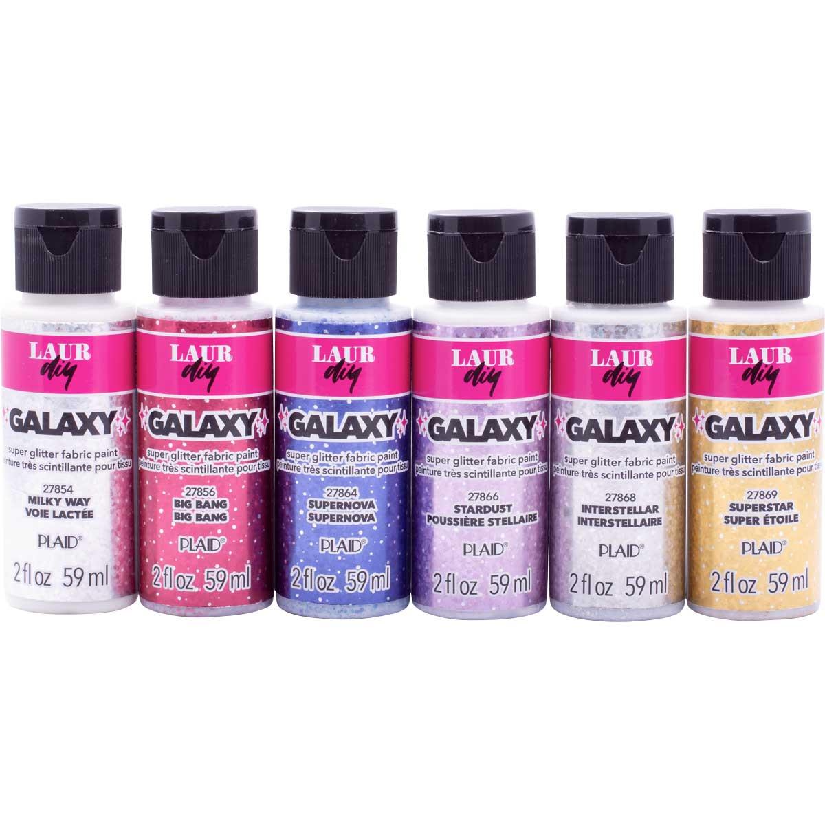 LaurDIY ® Galaxy Glitter Fabric Paint Set