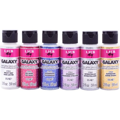 LaurDIY ® Galaxy Glitter Fabric Paint Set