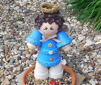 Flower Pot Garden Angel