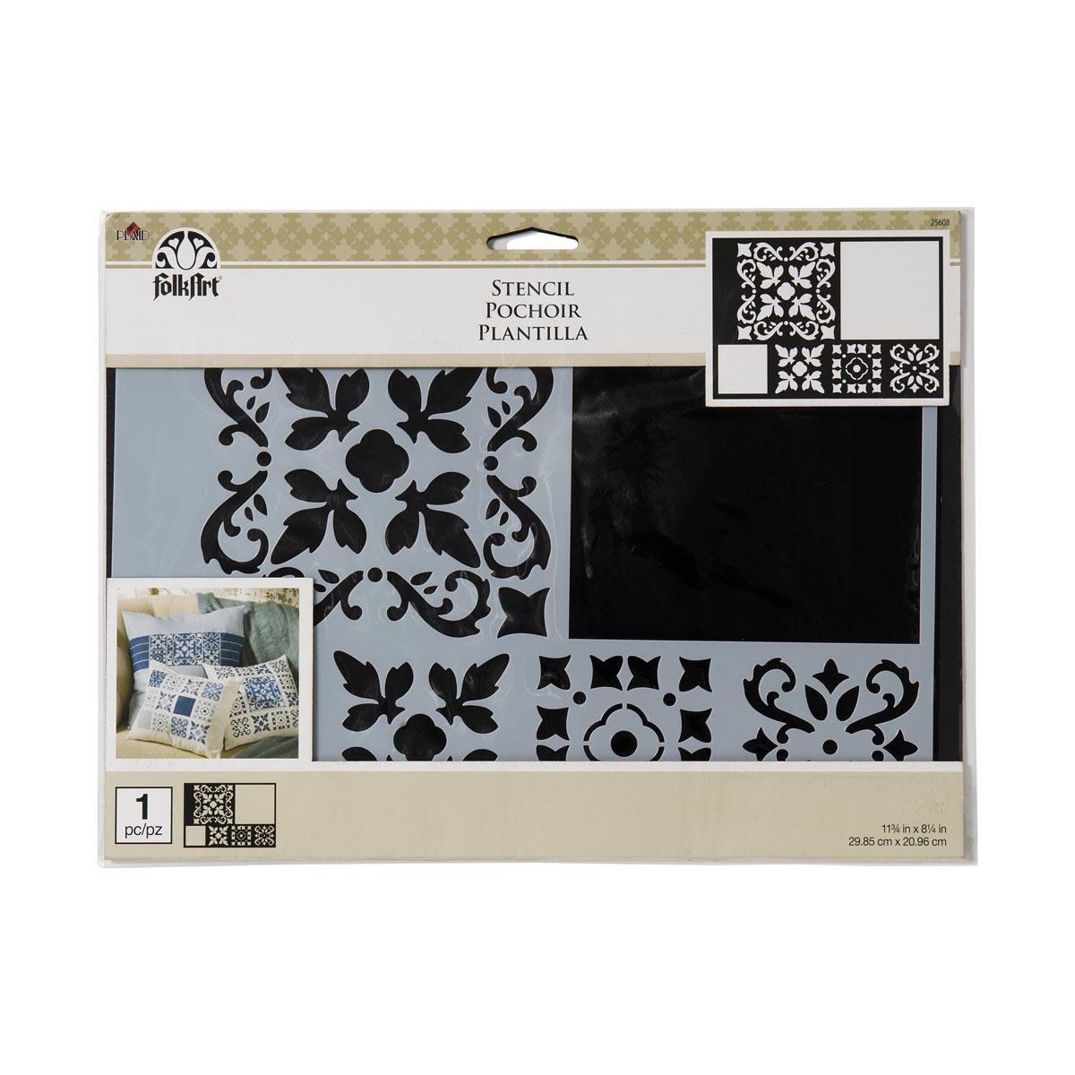 FolkArt ® Painting Stencils - Barcelona Tile