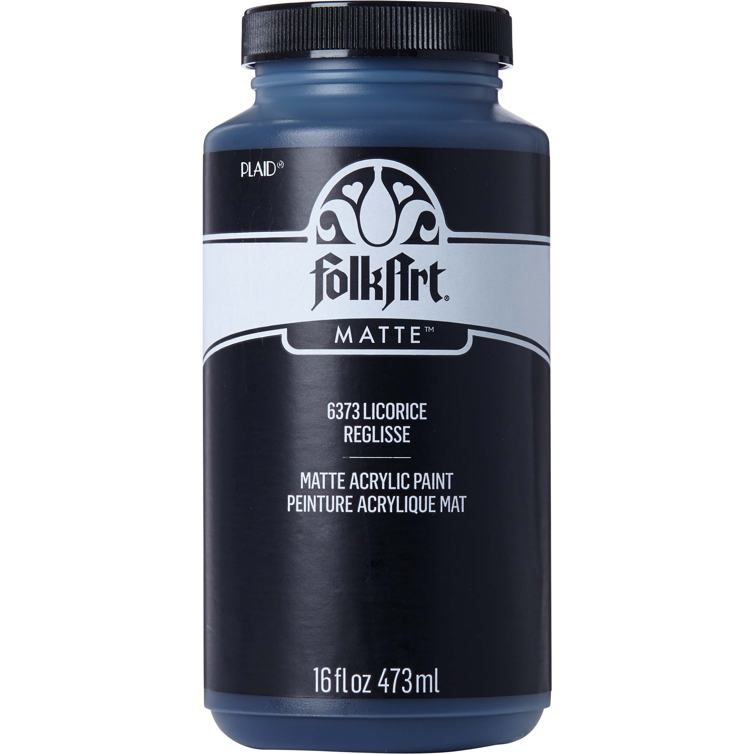 FolkArt ® Acrylic Colors - Licorice, 16 oz.