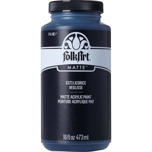 FolkArt ® Acrylic Colors - Licorice, 16 oz. - 6373