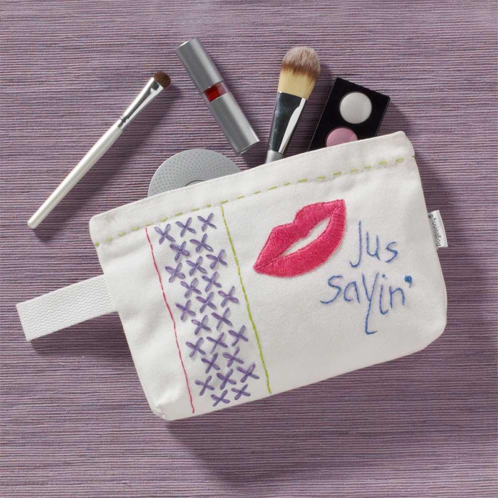 Bucilla ® Fashion Embroidery Kit - Just Sayin' - 49133E