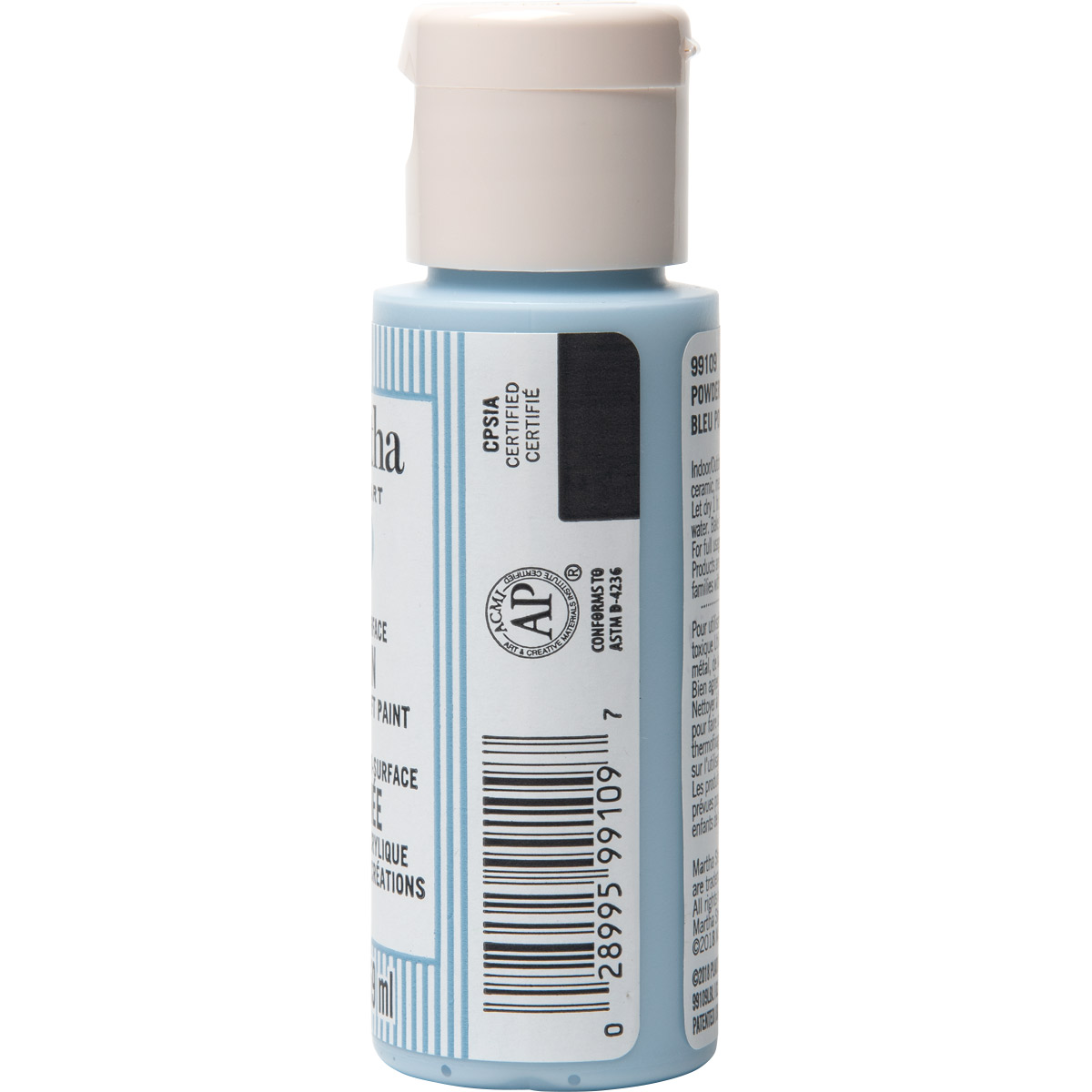 Martha Stewart ® Multi-Surface Satin Acrylic Craft Paint CPSIA - Powder Blue, 2 oz. - 99109