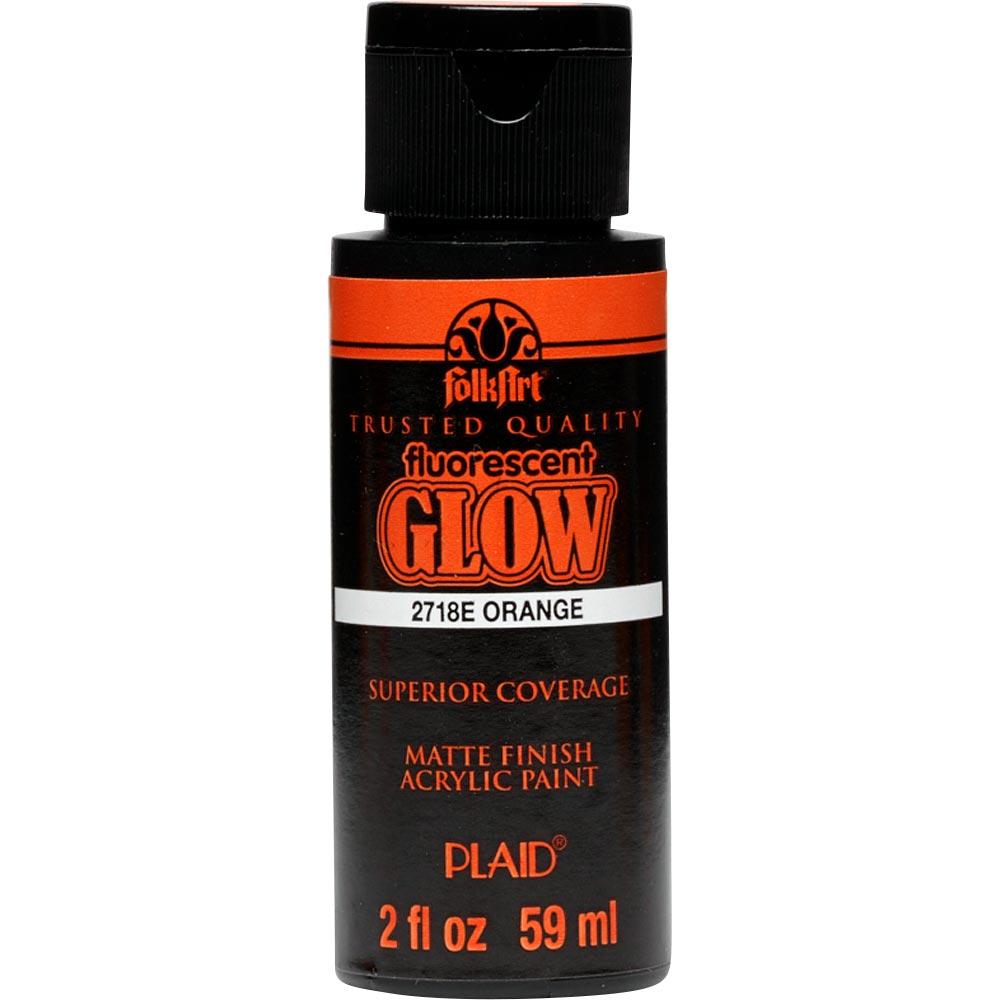 FolkArt ® Acrylic Colors - Fluorescent Glow - Orange, 2 oz.