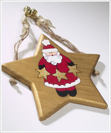 Wooden Santa Star