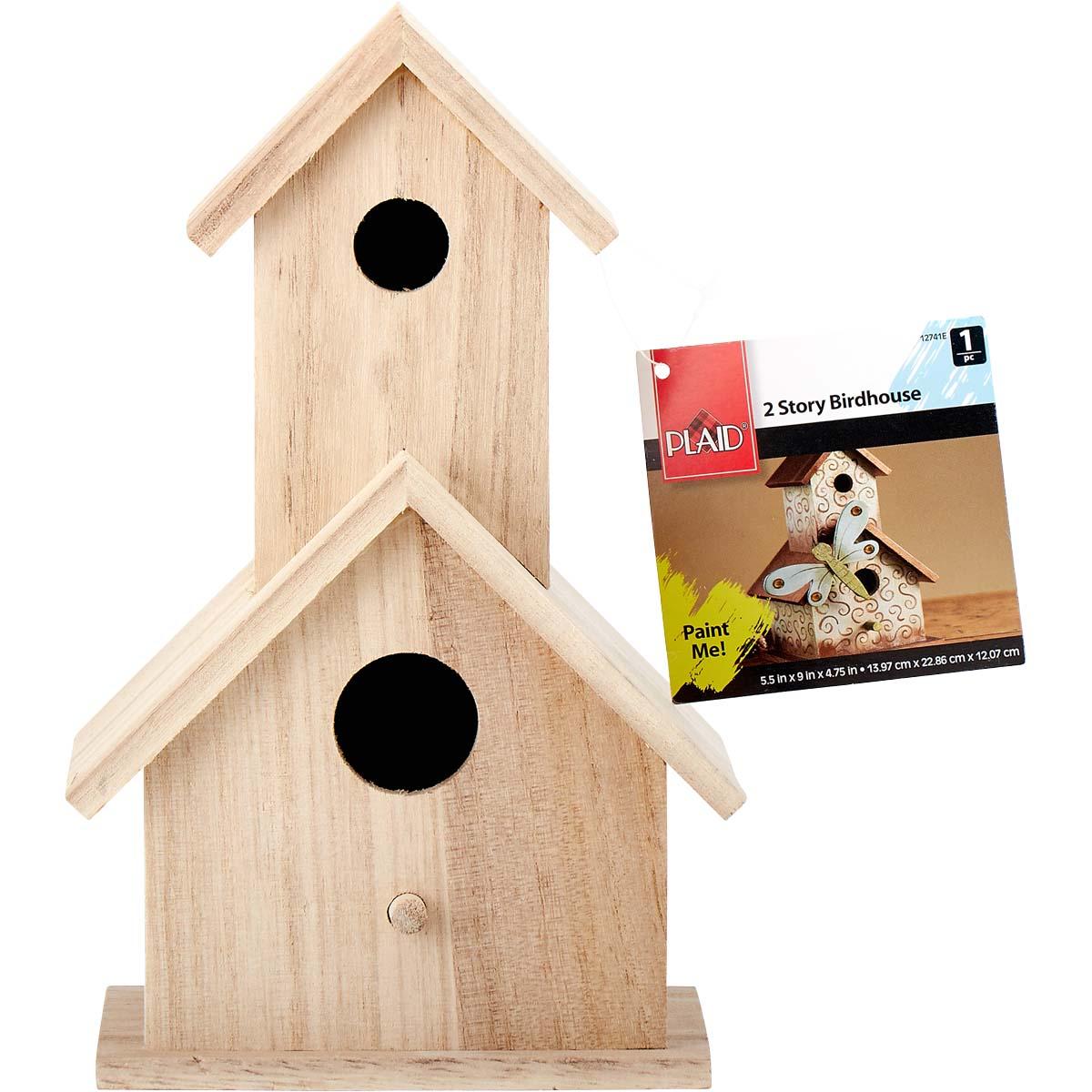 Plaid ® Wood Surfaces - Birdhouse, 2 Story - 12741