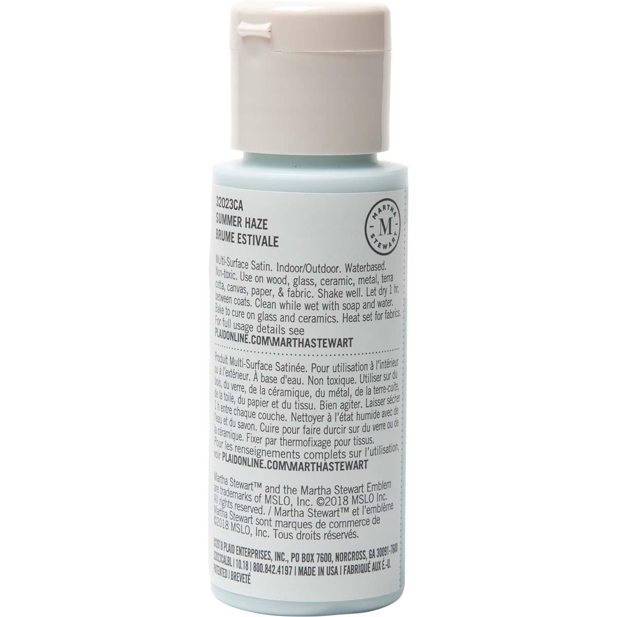 Martha Stewart® 2oz Multi-Surface Satin Acrylic Craft Paint - Summer Haze