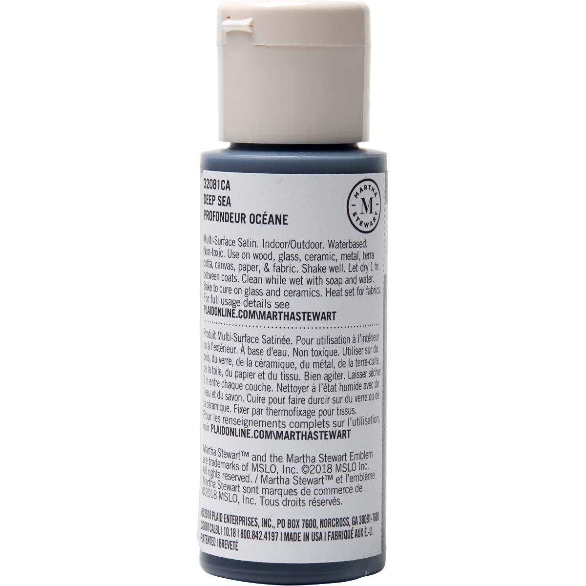 Martha Stewart ® Multi-Surface Satin Acrylic Craft Paint - Deep Sea, 2 oz.
