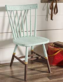 Crackled Chalk Chair