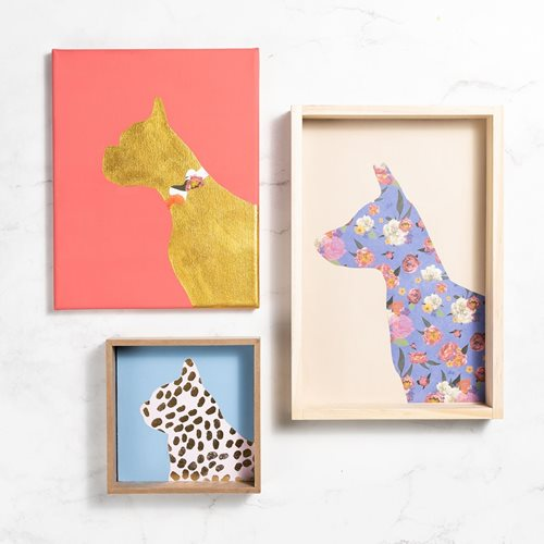 Pet Silhouette Gallery Wall
