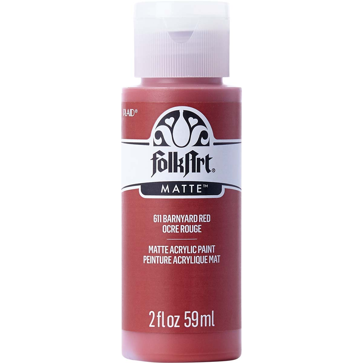 FolkArt ® Acrylic Colors - Barnyard Red, 2 oz. - 611