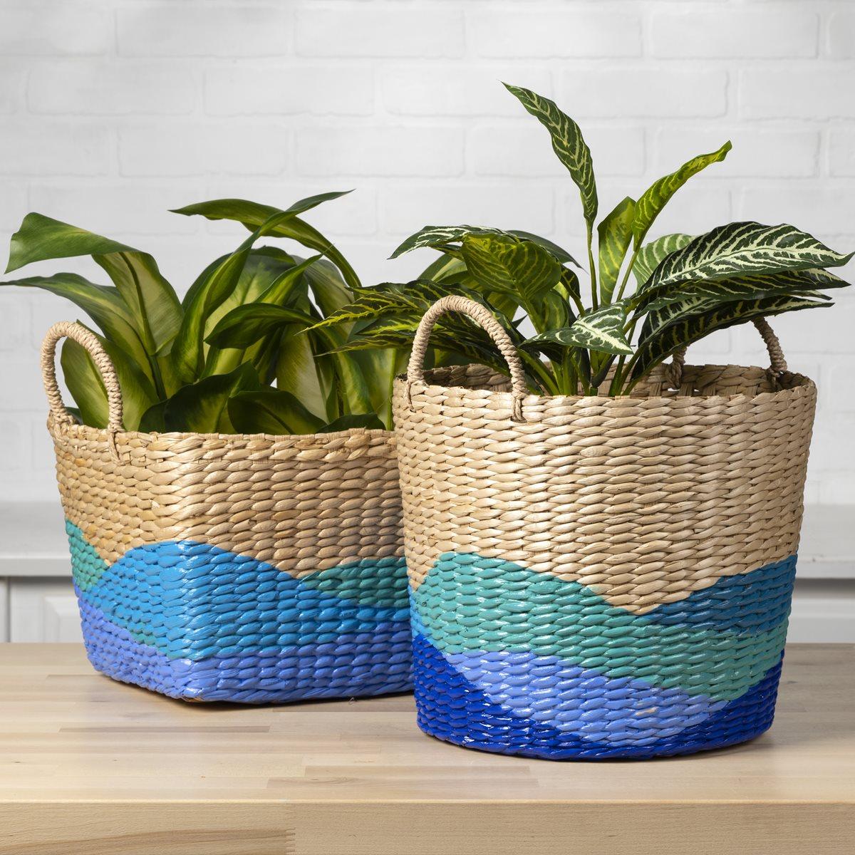 Glossy Ocean Baskets