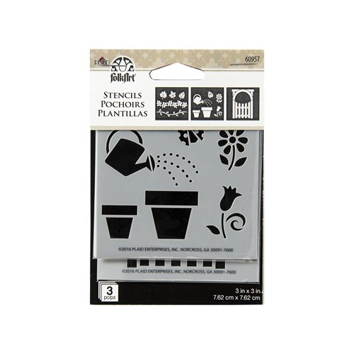 FolkArt ® Painting Stencils - Mini - Flower Pots
