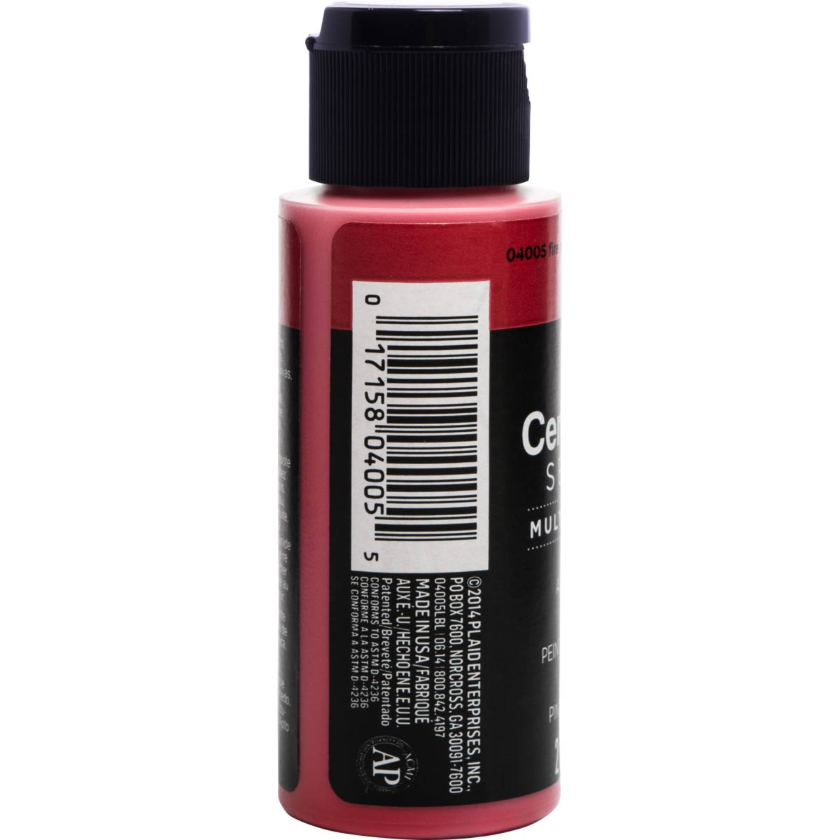 Delta Ceramcoat ® Select Multi-Surface Acrylic Paint - Satin - Fire Red, 2 oz. - 04005