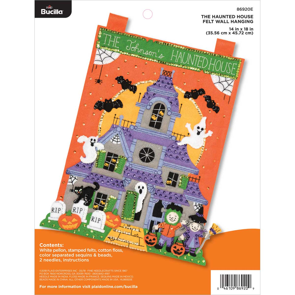 Bucilla ® Seasonal - Felt - Home Decor - The Haunted House Wall Hanging - 86920E