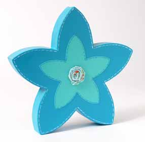 Paper Mache Blue Flower