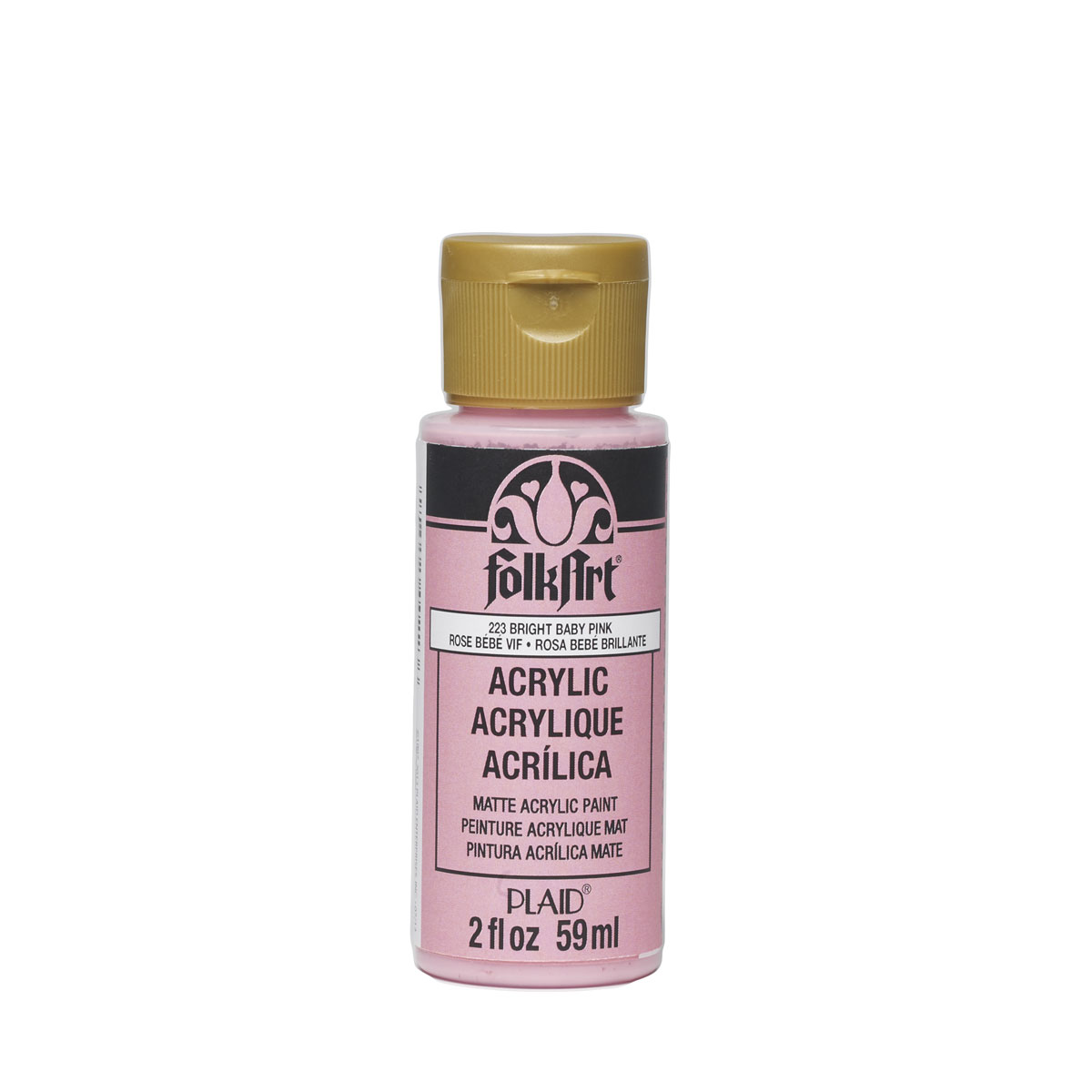 FolkArt ® Acrylic Colors - Bright Baby Pink, 2 oz. - 223