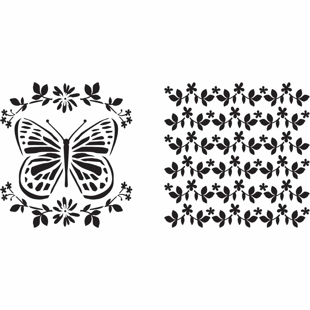 Fabric Creations™ Adhesive Stencils - Butterfly, 6
