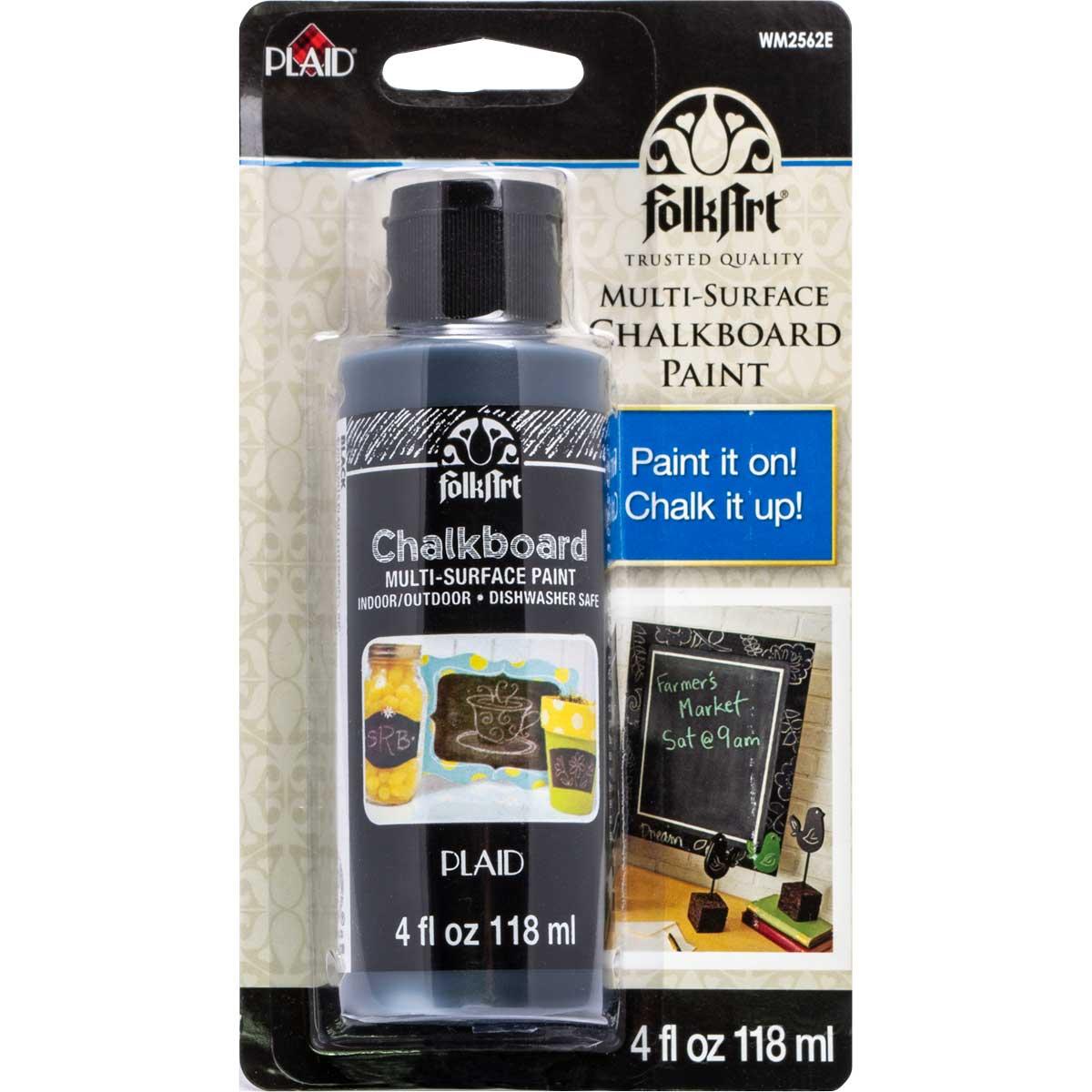 FolkArt ® Chalkboard Multi-Surface Paint - Black, 4 oz. - WM2562E