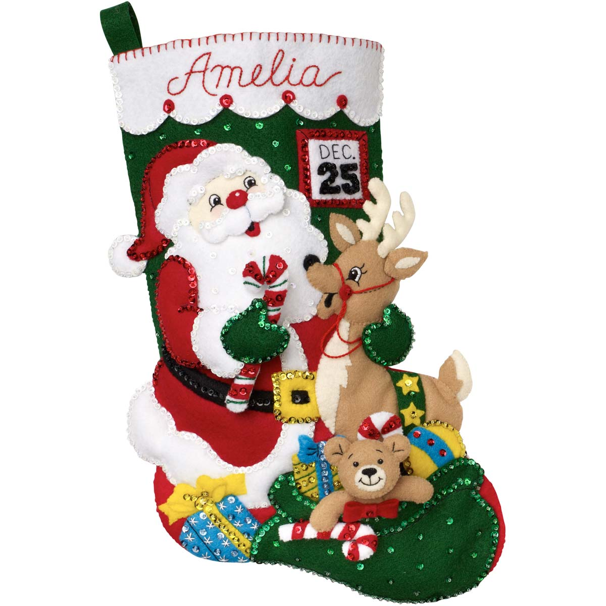 Bucilla ® Seasonal - Felt - Stocking Kits - Santa and Friends - 89330E
