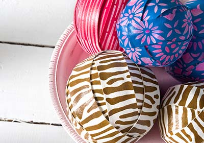 Vinyl Painted Styrofoam Balls