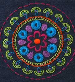 Bucilla ® Stamped Embroidery Handmade Charlotte™ - Denim Tribal Medallion