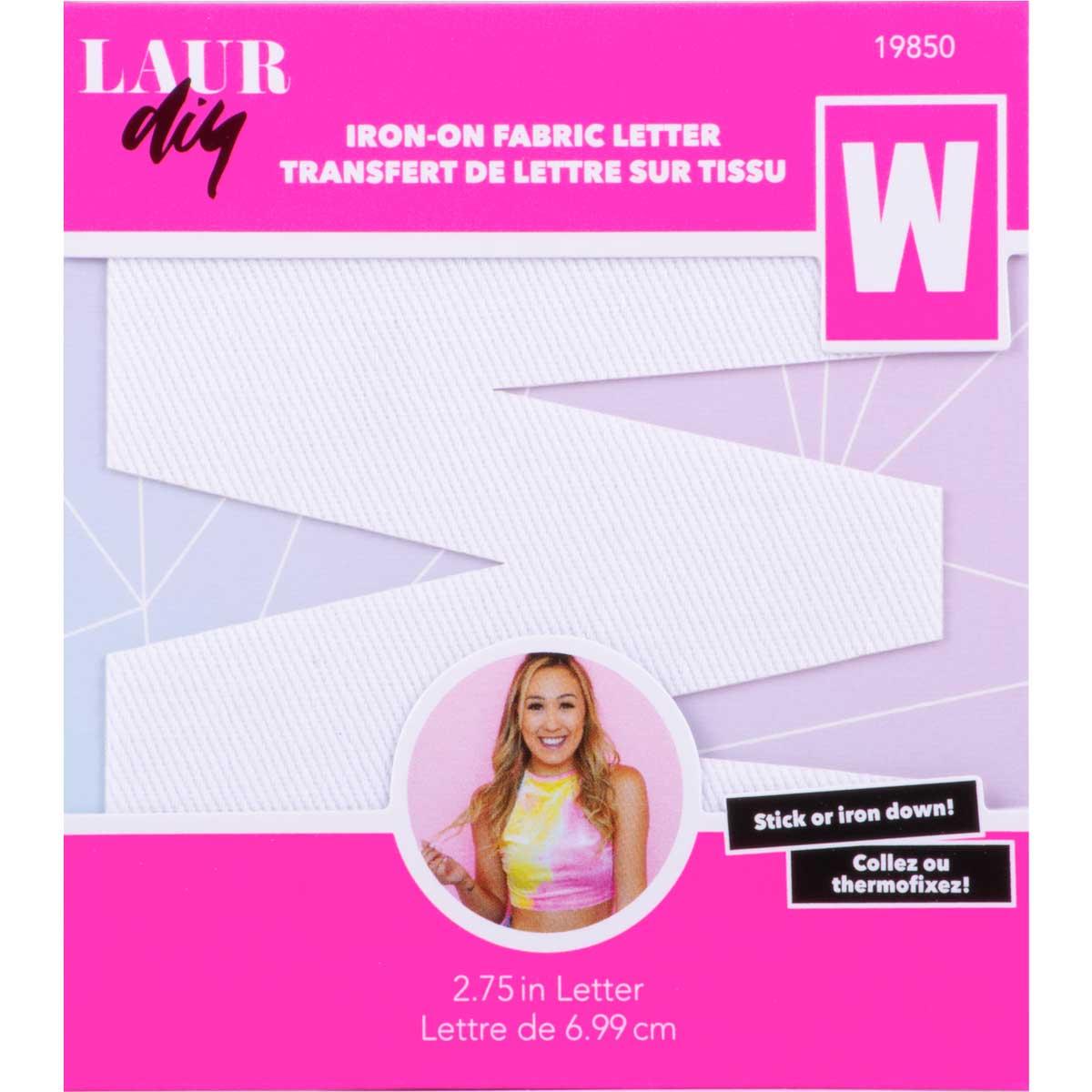 LaurDIY ® Iron-on Fabric Letters - W