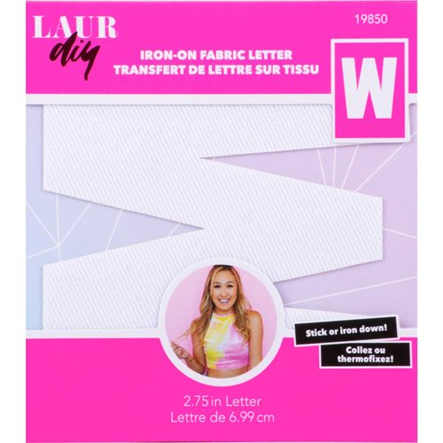 LaurDIY ® Iron-on Fabric Letters - W