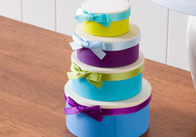 Mini Nesting Boxes with Ribbon