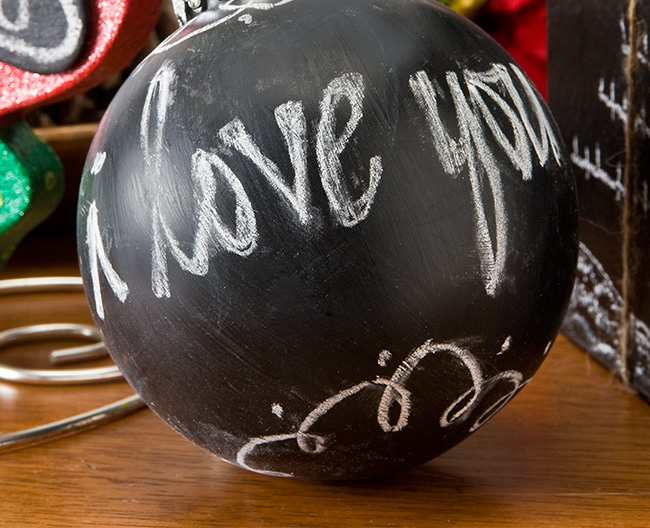 Christmas Chalkboard Ball Ornament