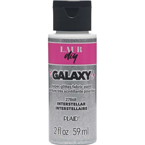 LAURDIY GLITTER FABRIC PAINT INTERSTELLAR 2 OZ.
