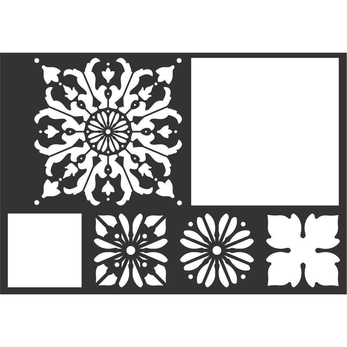 FolkArt ® Painting Stencils - Mod Flower Tile - 13236