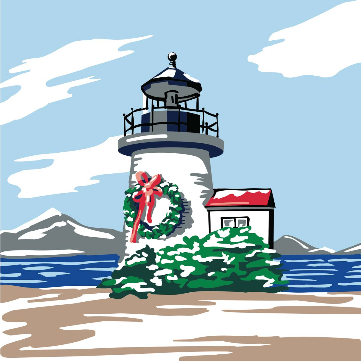 Plaid ® Let's Paint™ Modern Paint-by-Number - Christmas Lighthouse - 17922