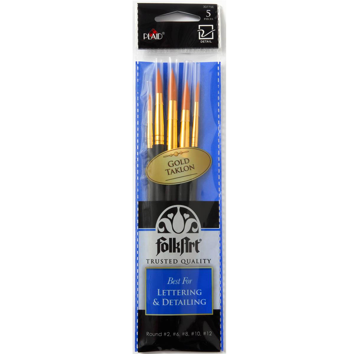 Folkart ® Brush Sets - Lettering and Detail Set - 30775