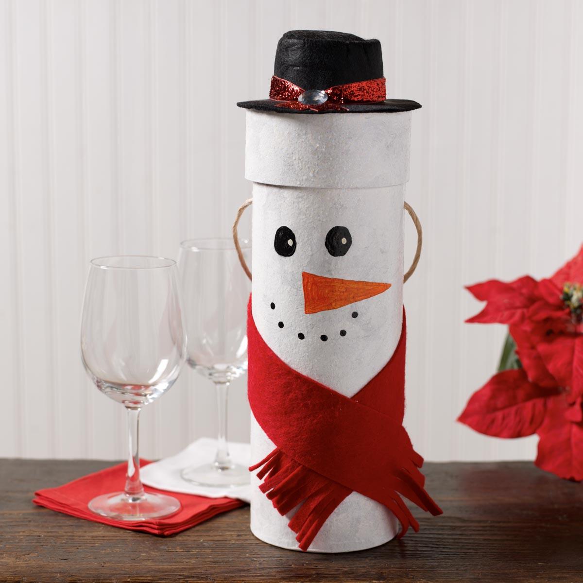 Snowman Wine Gift Box