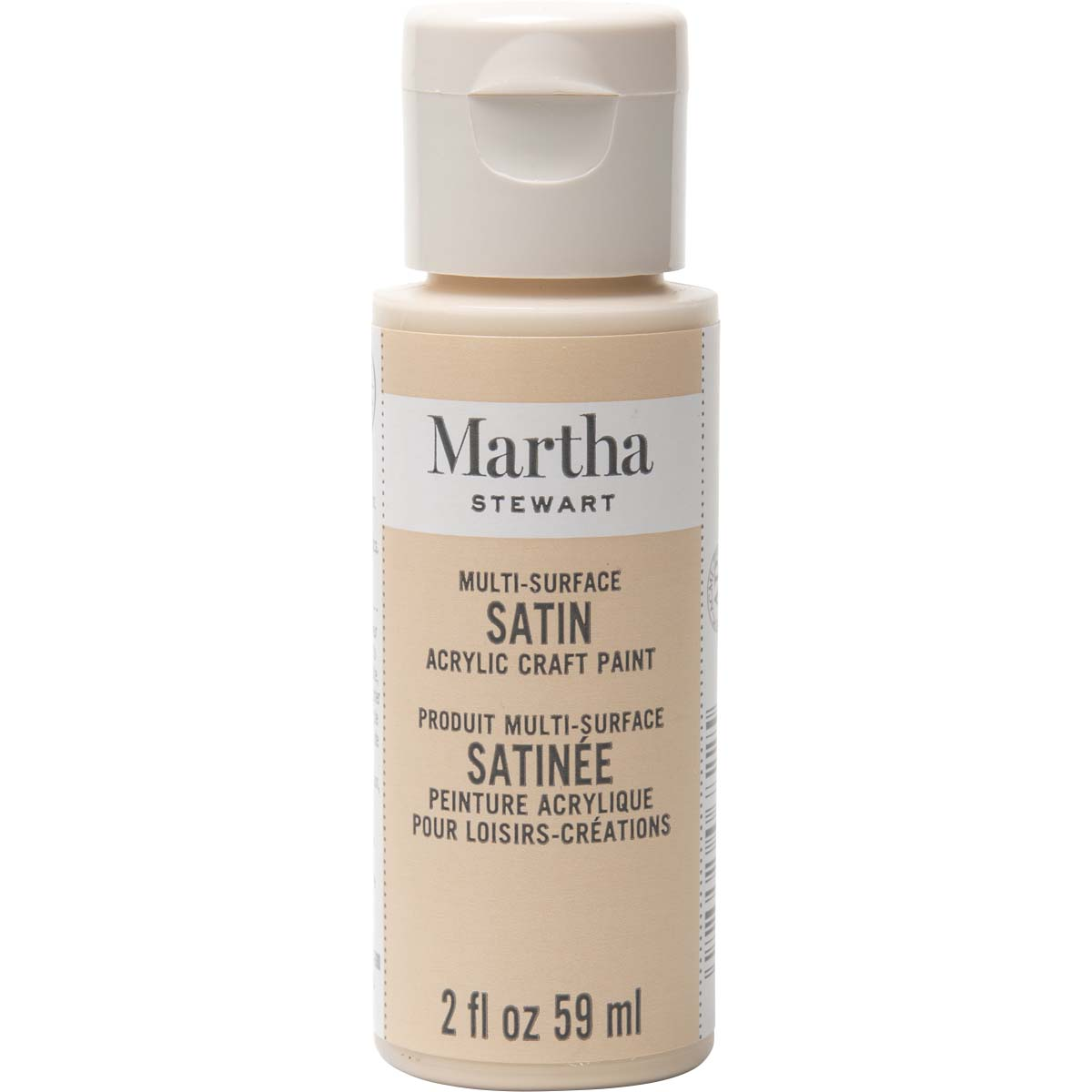 Martha Stewart ® Multi-Surface Satin Acrylic Craft Paint - Sandcastle, 2 oz. - 33571CA