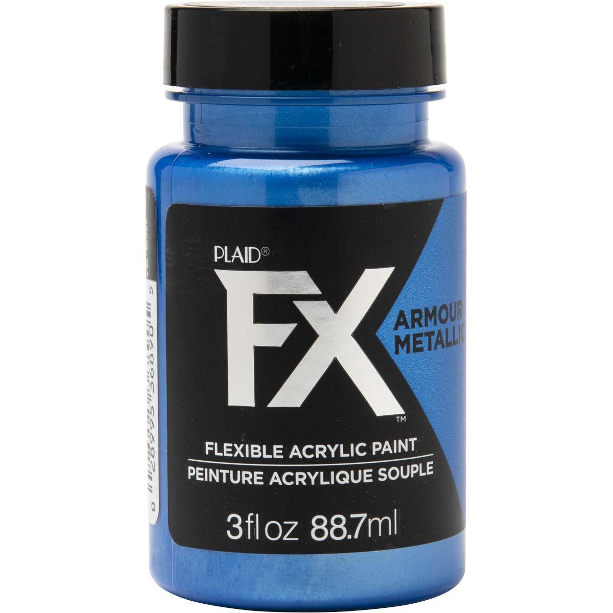 PlaidFX Armour Metal Flexible Acrylic Paint - Saber Blue, 3 oz. - 36890