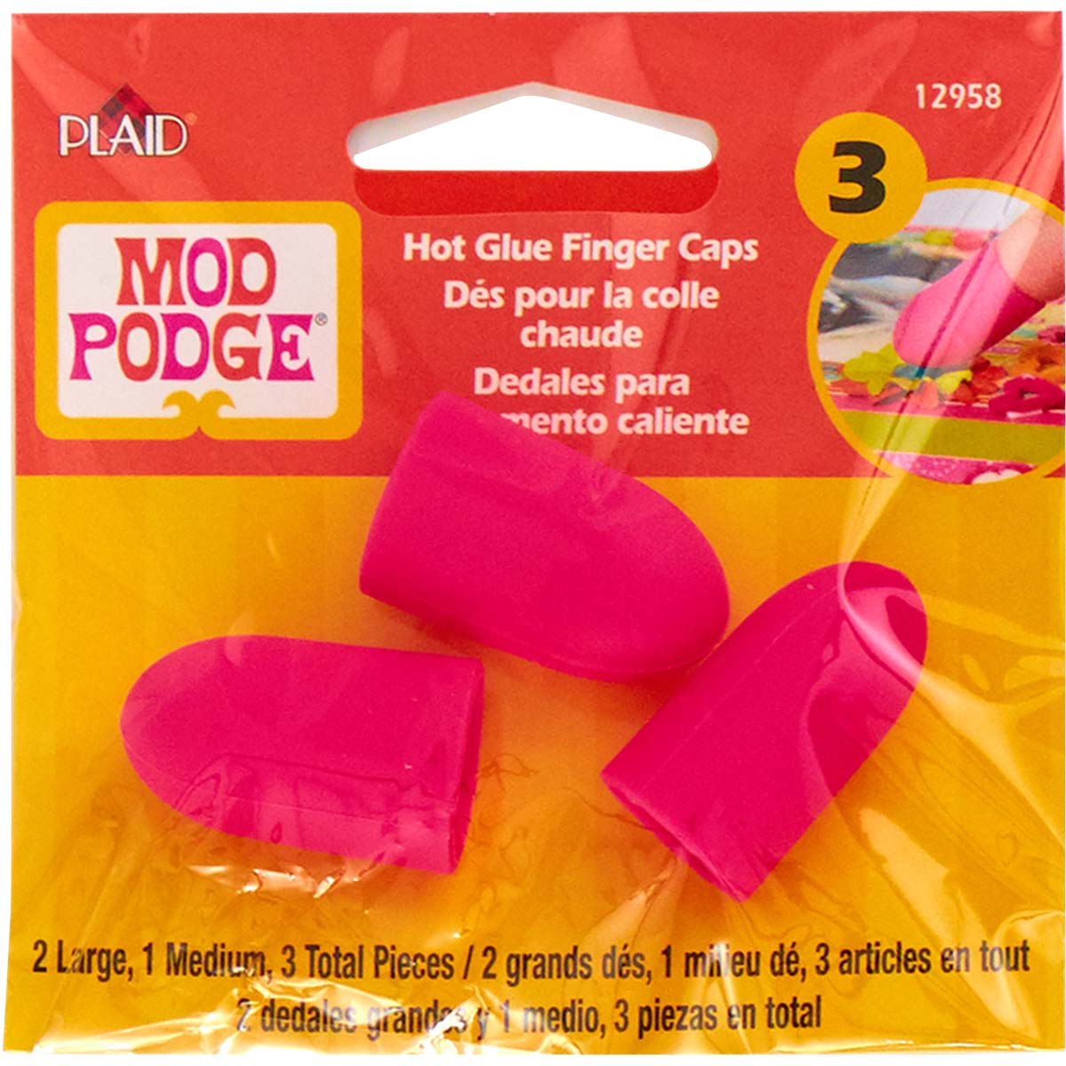 Mod Podge ® 3 Piece Silicone Finger Caps - 12958
