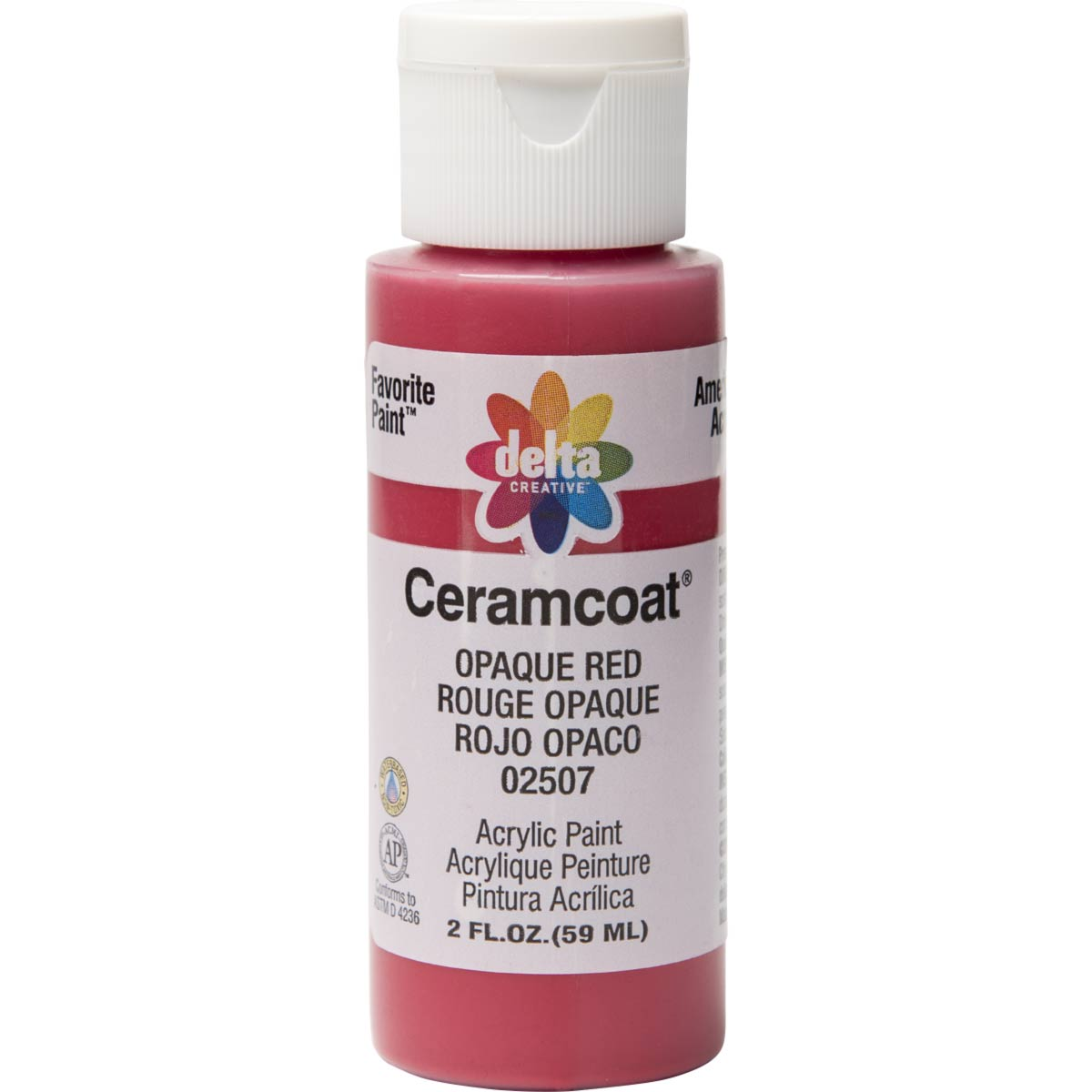 Delta Ceramcoat ® Acrylic Paint - Opaque Red, 2 oz. - 025070202W