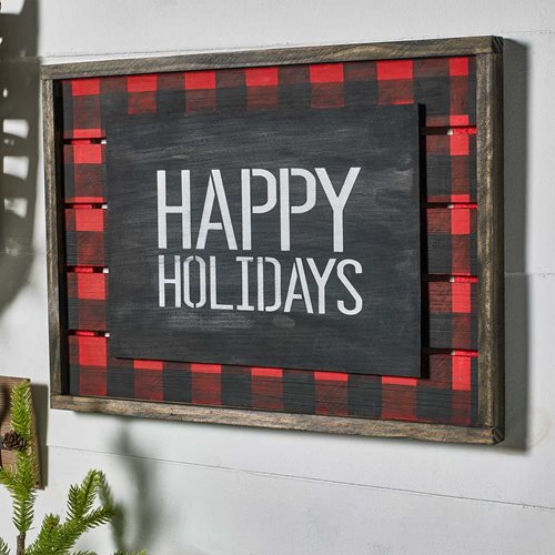 Happy Holidays Sign for Home Decor