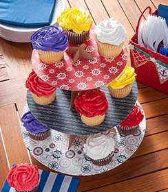 Mod Podge Cupcake Stand
