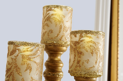 Glitzy Wedding Votives