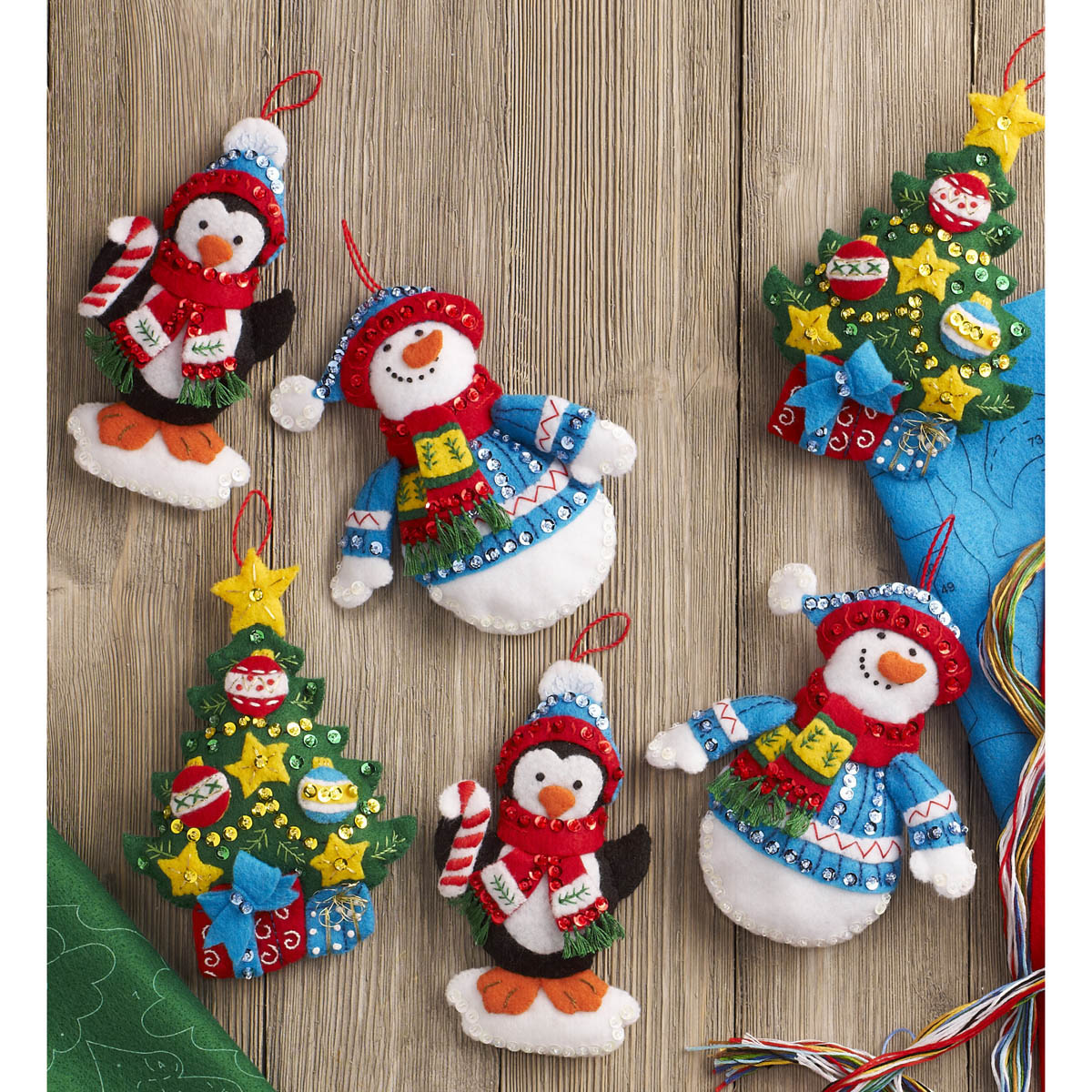 Bucilla ® Seasonal - Felt - Ornament Kits - Trimming The Tree