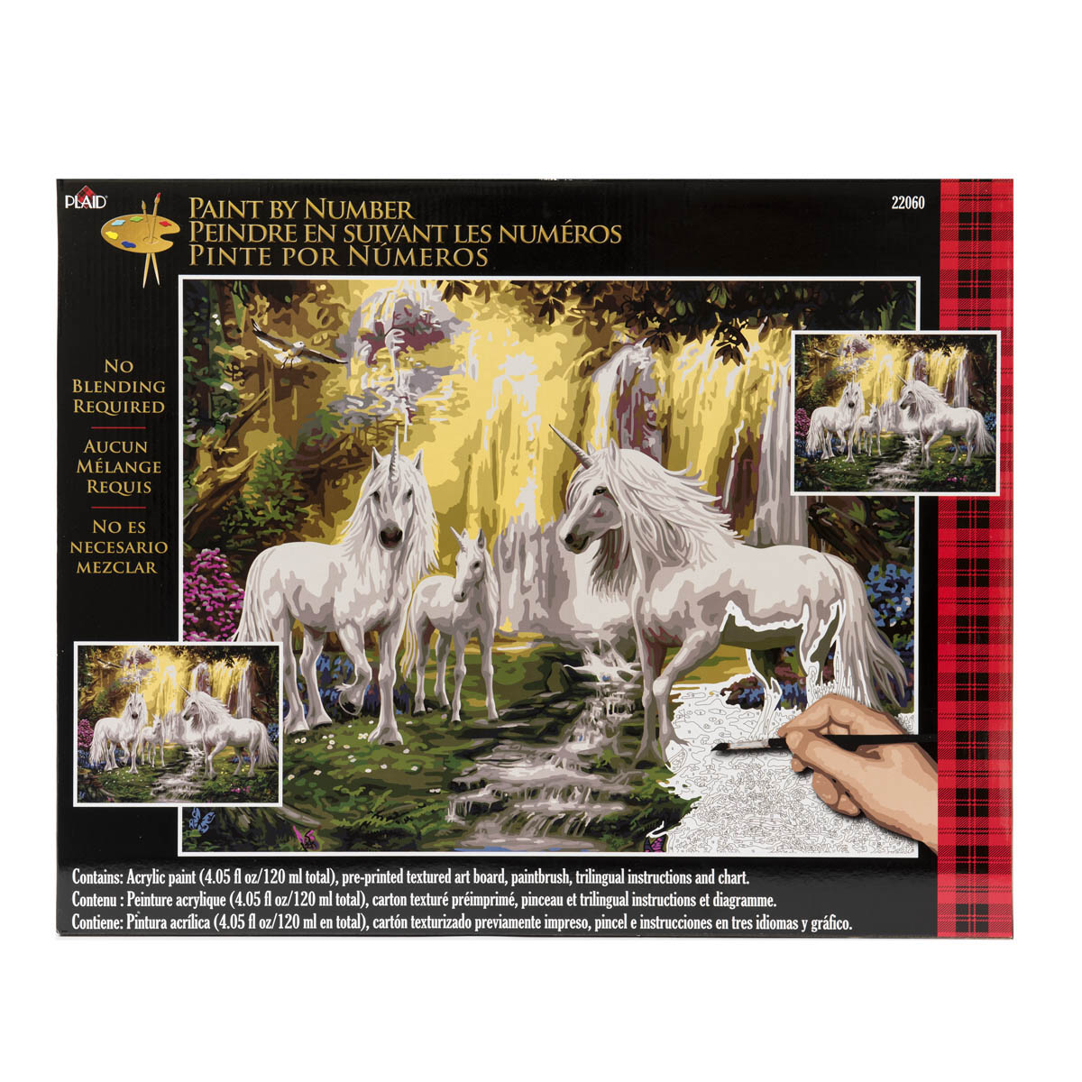 Plaid ® Paint by Number - Waterfall Glade Unicorns