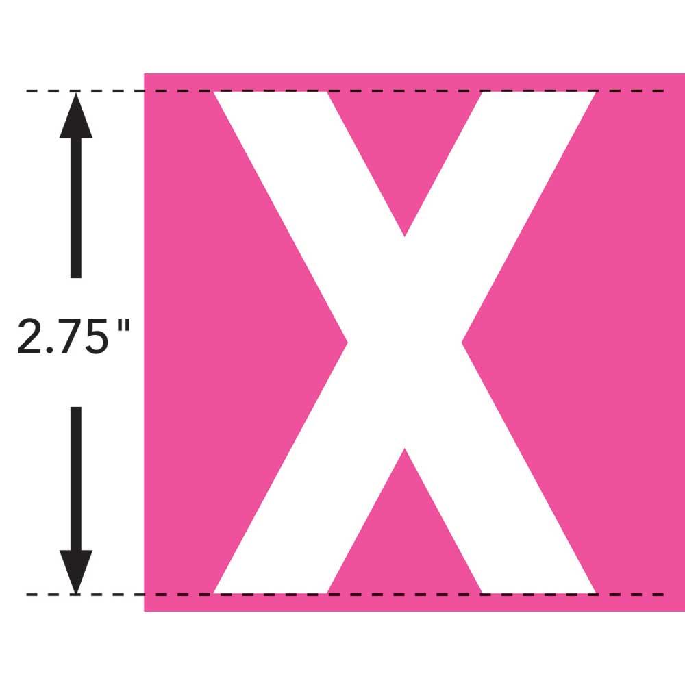 LaurDIY ® Iron-on Fabric Letters - X